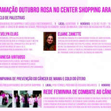 Programação rosa do Center Shopping Araranguá
