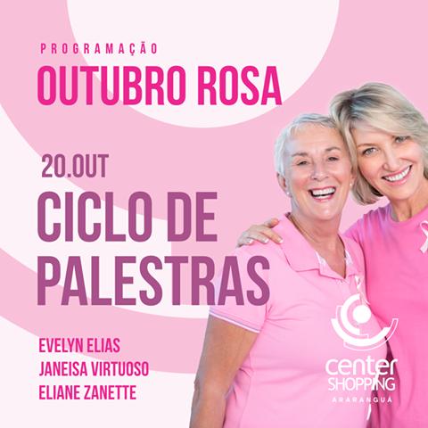 Palestras de conscientização sobre câncer de mama e colo de útero