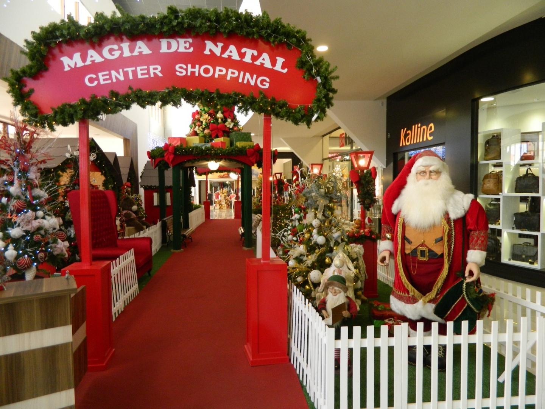 A recepção do Bom Velhinho será no dia 3 de dezembro, às 15h30min em frente ao shopping
