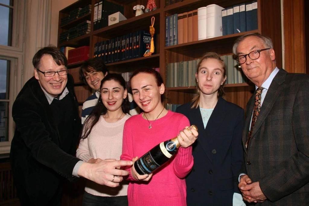 Alemães ficaram impressionado com o Espumante de uva Goethe