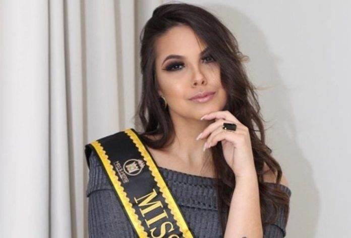 Bruna Vitali de Urussanga, é elegida concurso de Miss Santa Catarina 2018 em Florianópolis