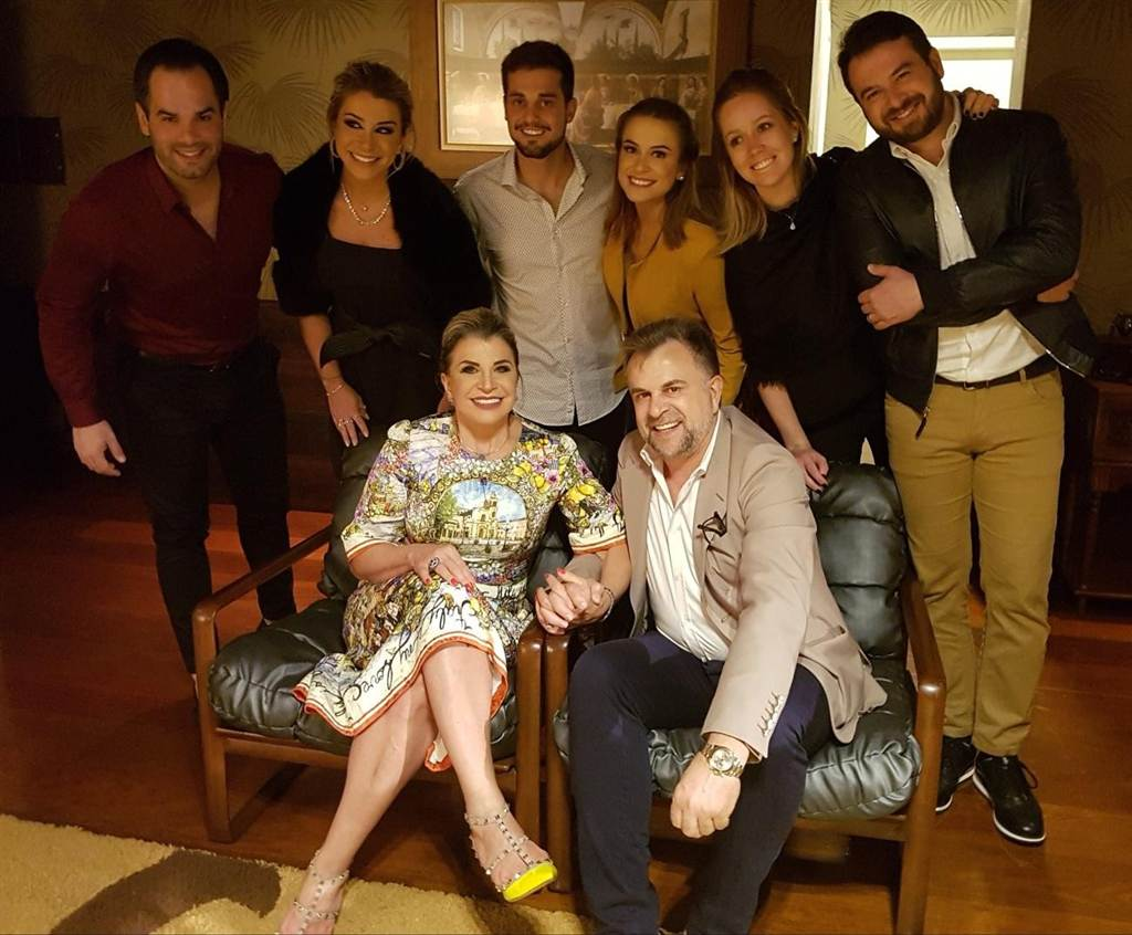 Família Olivo recebe convidados em Nova Veneza