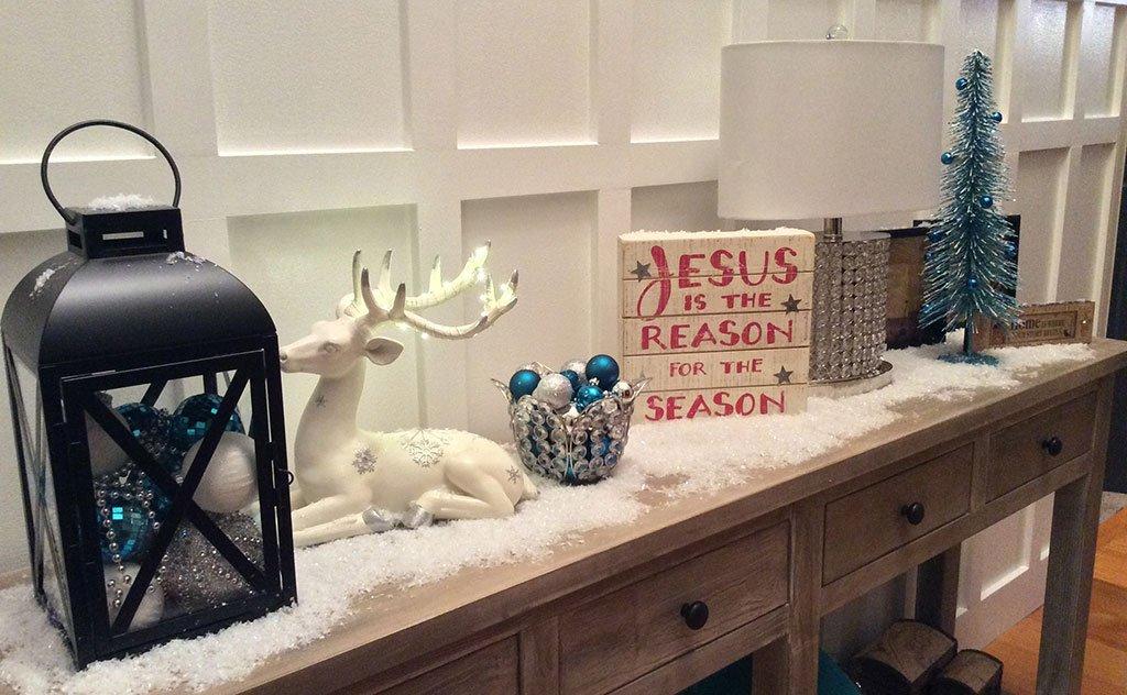 Inverno rigoroso e a decoração de natal