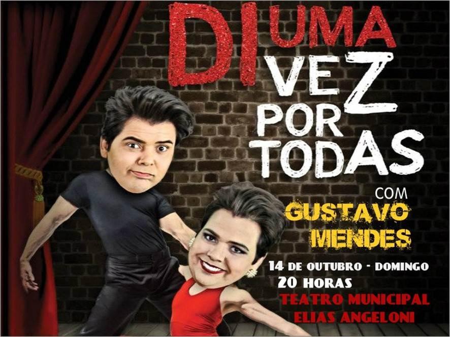 Humorista Gustavo Mendes, estará no Teatro Elias Angeloni em Criciúma