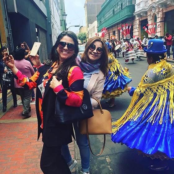 As amigas curtiram as maravilhas de Lima, ao lado dos maridões