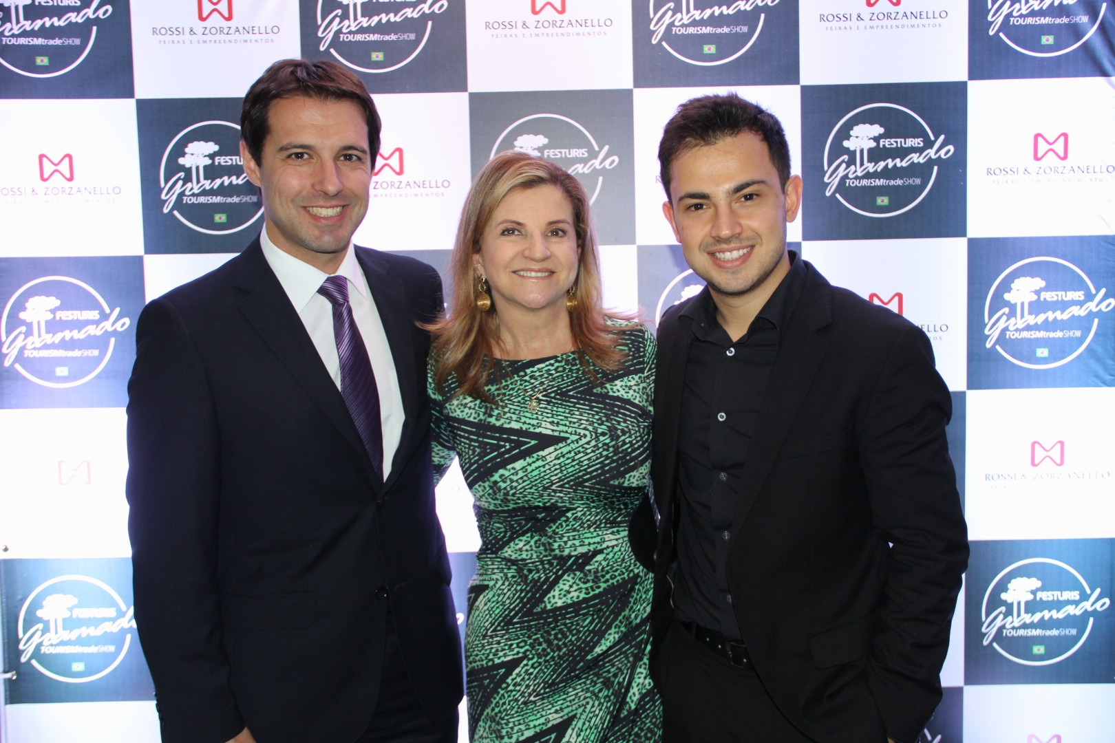 Diretores da feira - Eduardo Zorzanello, Marta Rossi e Marcus Vinicius Rossi