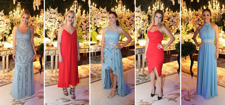 Azul Serenity e Vermelho Flame dominaram os dresses da noite!