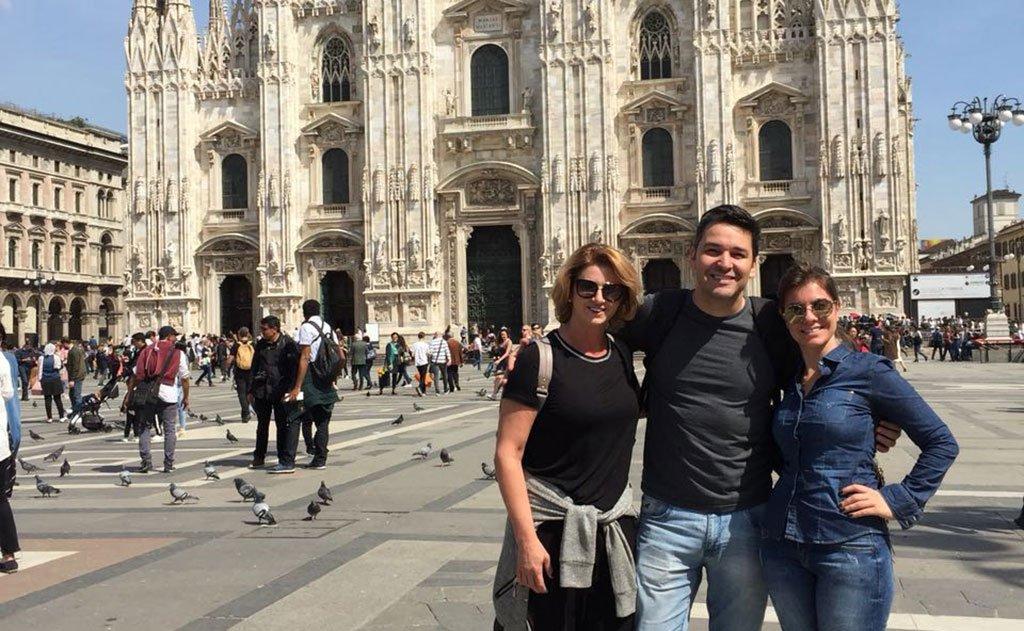 em terras italianas, empreendedora é acompanhada pela sobrinha, Ana Claudia Panato