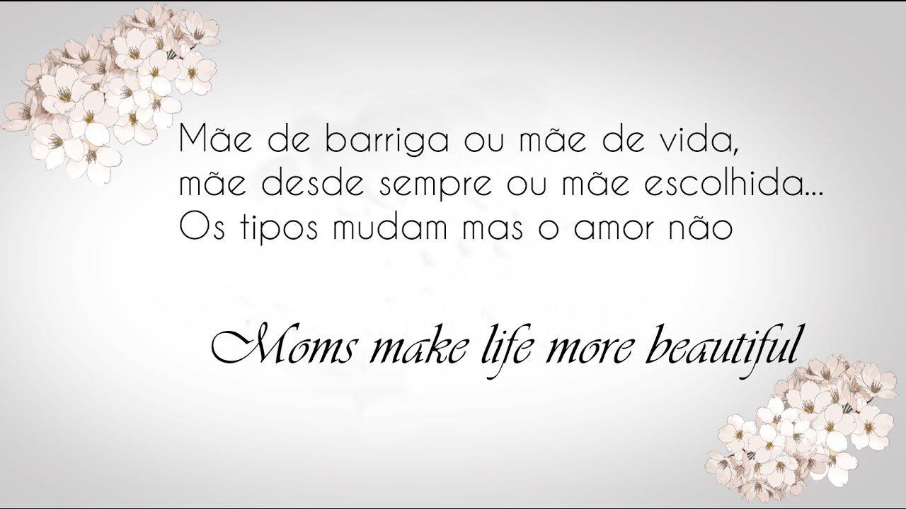 Um breve vídeo para homenagear as mães que compartilharam seu dia