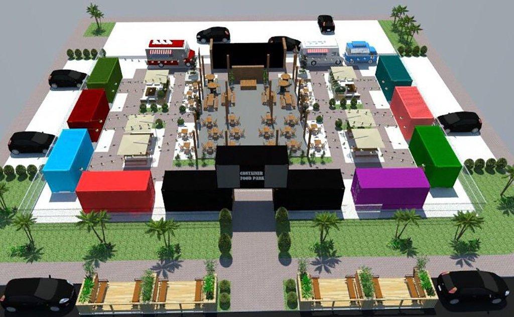 Especializado em culinária gourmet de rua, o Container Food Park será inaugurado em agosto