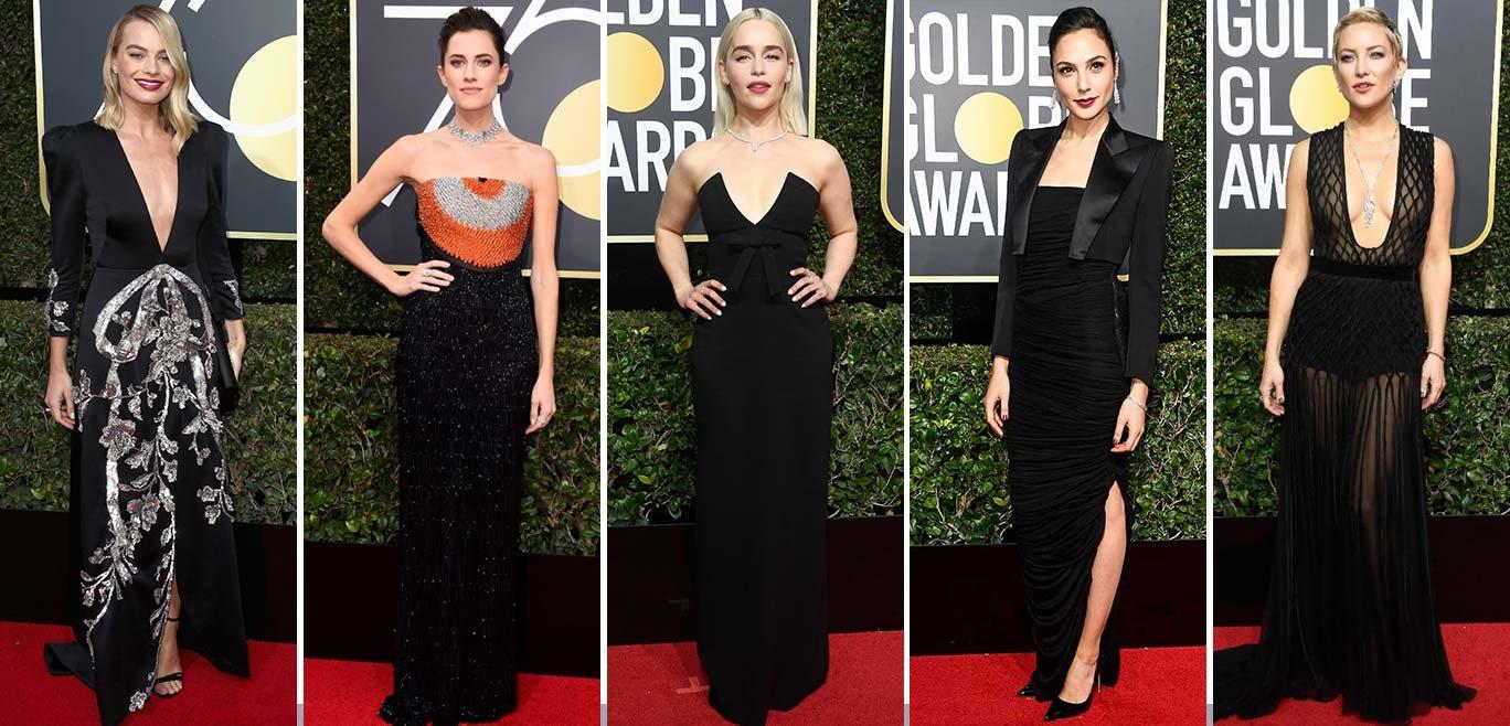 Atores e atrizes de hollywood protestam contra o assédio sexual na indústria cinematográfica