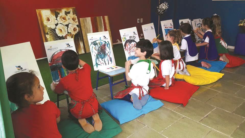 Berçário, maternal, jardim e pré escolar onde as crianças aprendem de forma diferente