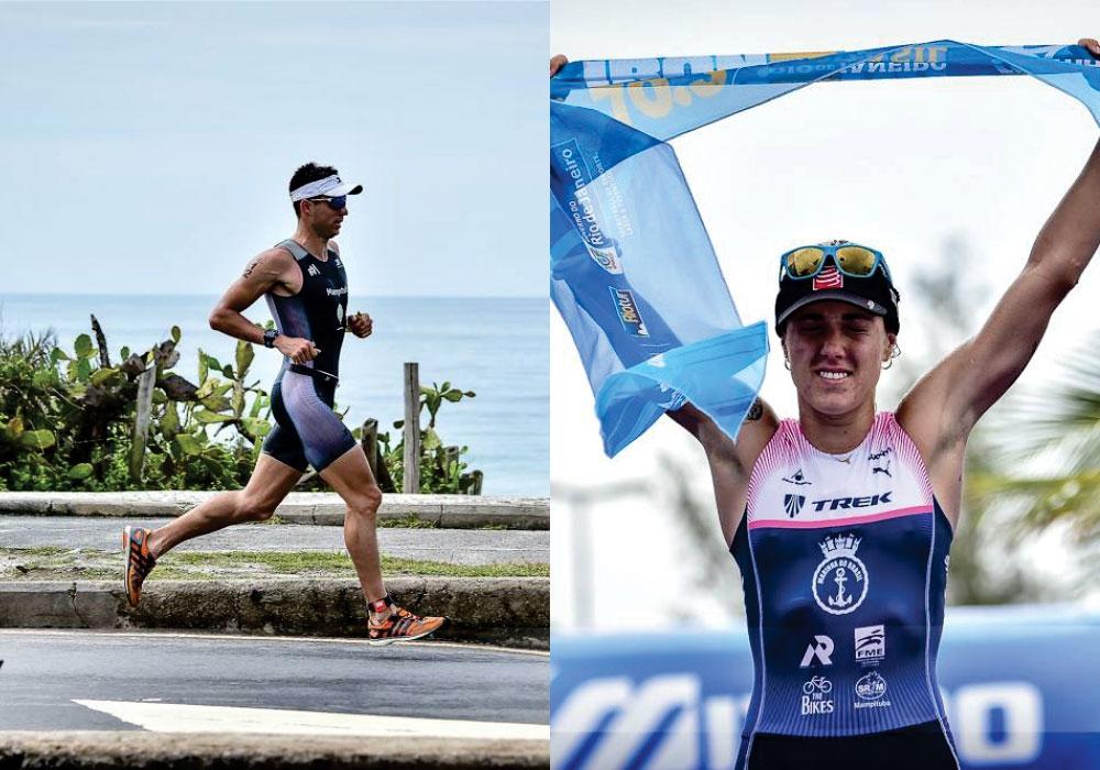 Carol Furriela e Bruno Matheus ficaram entre os dez melhores tempos da maratona