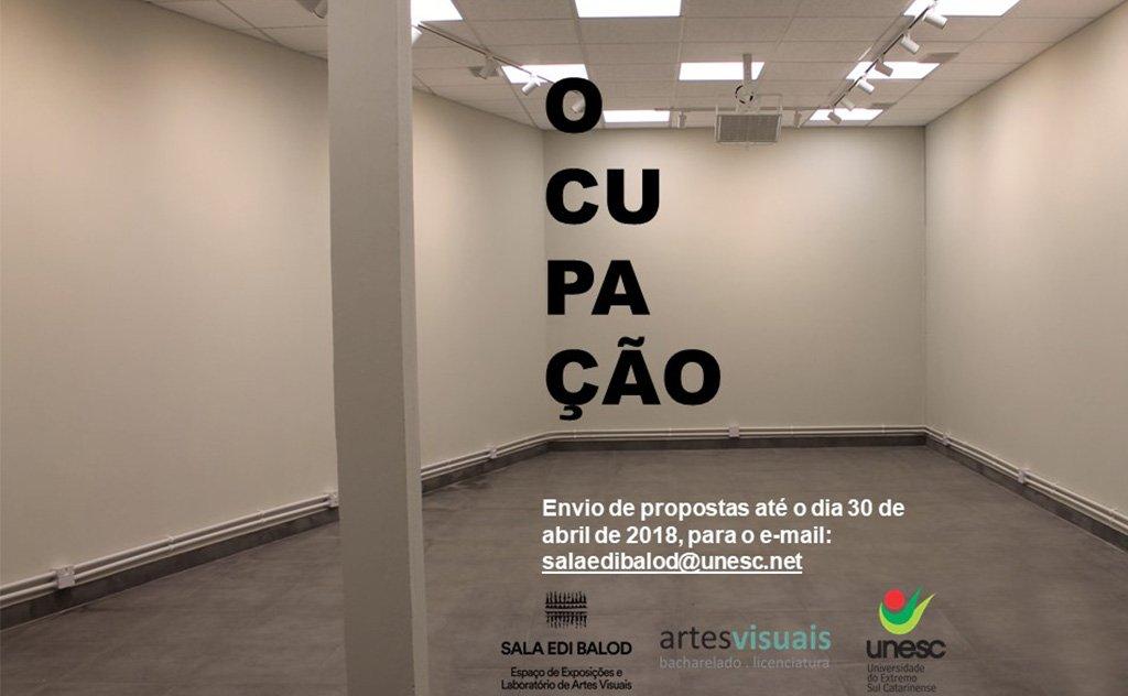 Curso de Artes Visuais promove ocupação da Sala Edi Balod da Unesc