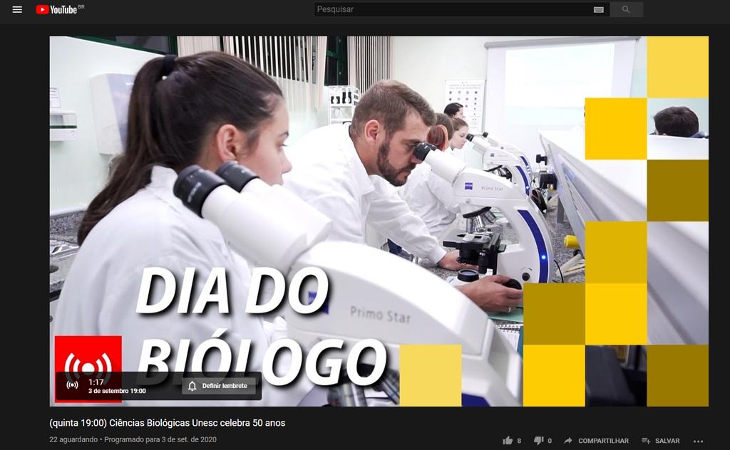 Evento virtual foi realizado no dia Dia do Biólogo