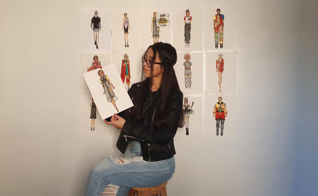 Estudante de Design de Moda representa o curso da Unesc/Senai ao Prêmio Brasil Sul de Moda Inclusiva