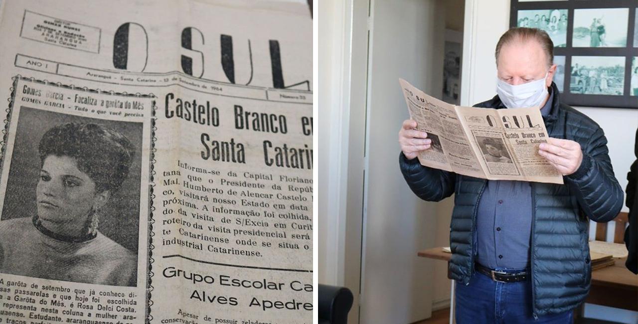 Itens como jornais locais, livros e cadernos escolares, foram deixados por Dr. Wladinir Luz