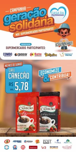 Banner Geração Solidaria Café Canecão