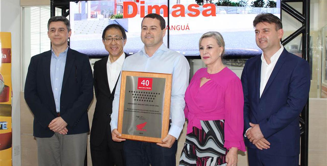 Evento de alto nível recepcionou o vice presidente da Honda Motos América Latina