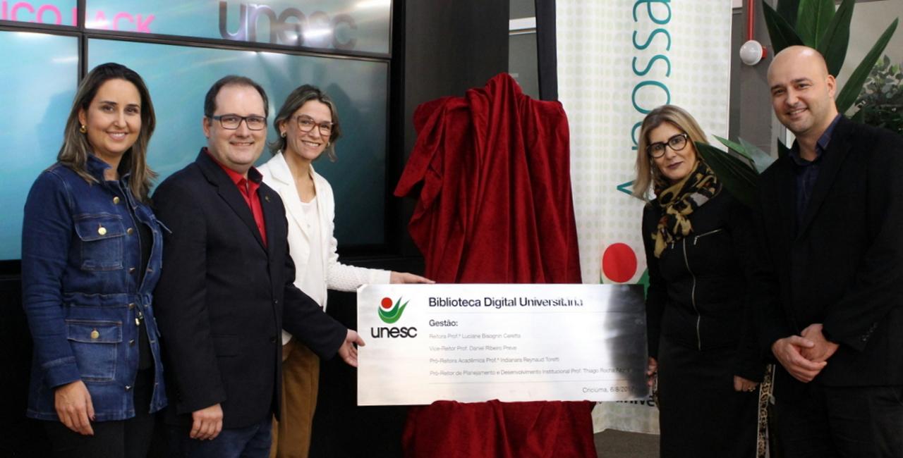 Reitoria Luciane Ceretta apresentou plataforma digital aos alunos