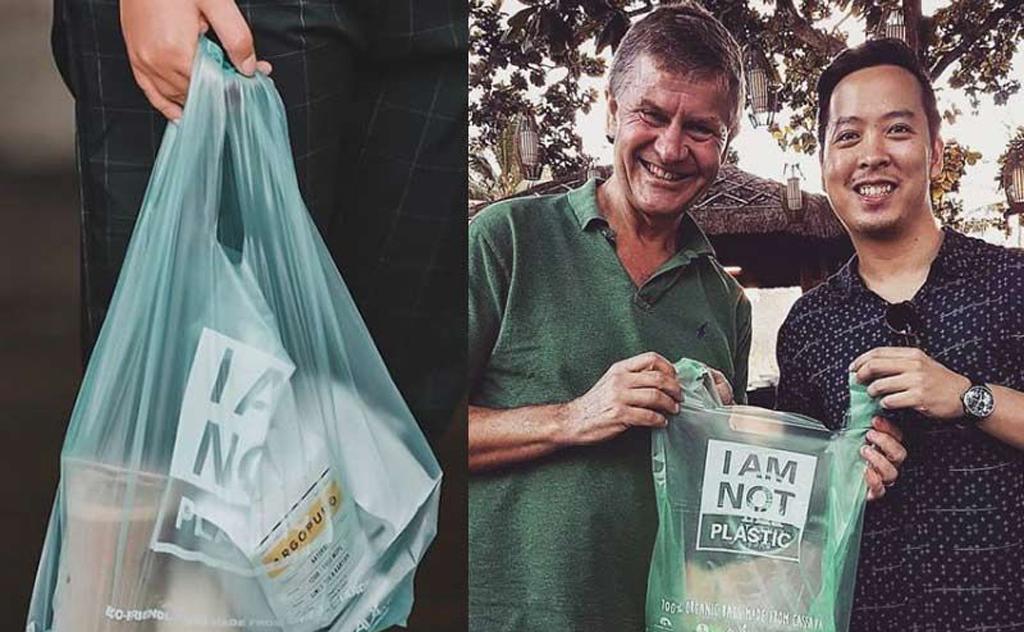 Kevin Kumala criou uma alternativa para caso as sacolas jogadas ao mar
