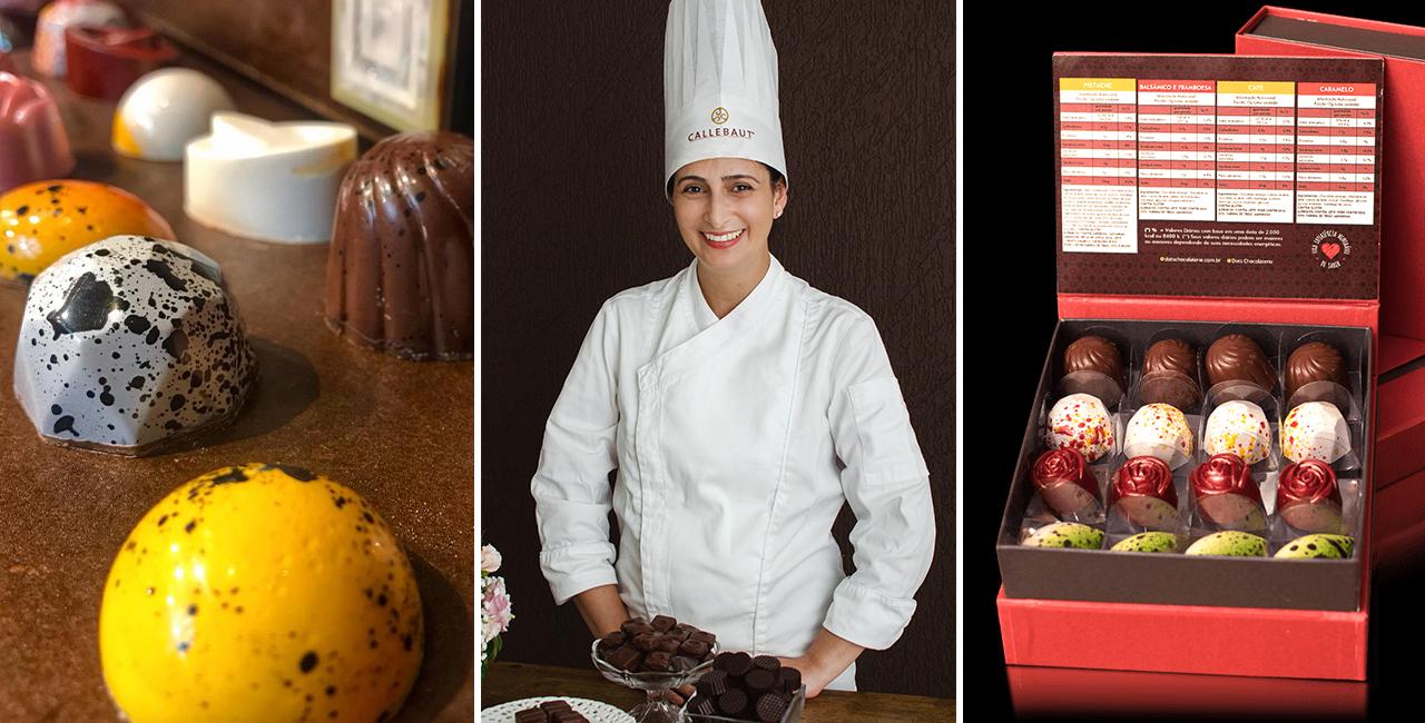 Chef Teresinha  Cicchelero  cria técnica única na produção de doces com chocolates de origem