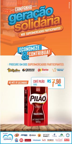 Banner Geração Solidaria Café Pilão