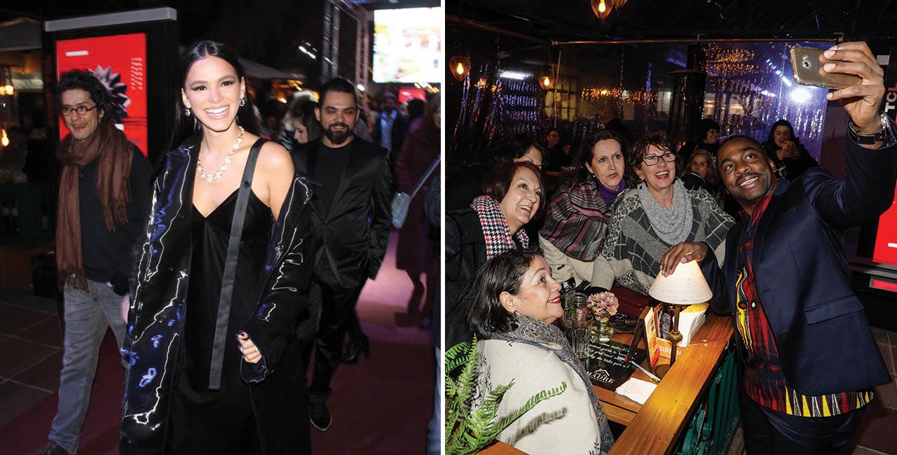 Ator recebe Troféu Oscarito e atriz assiste seu primeiro longa