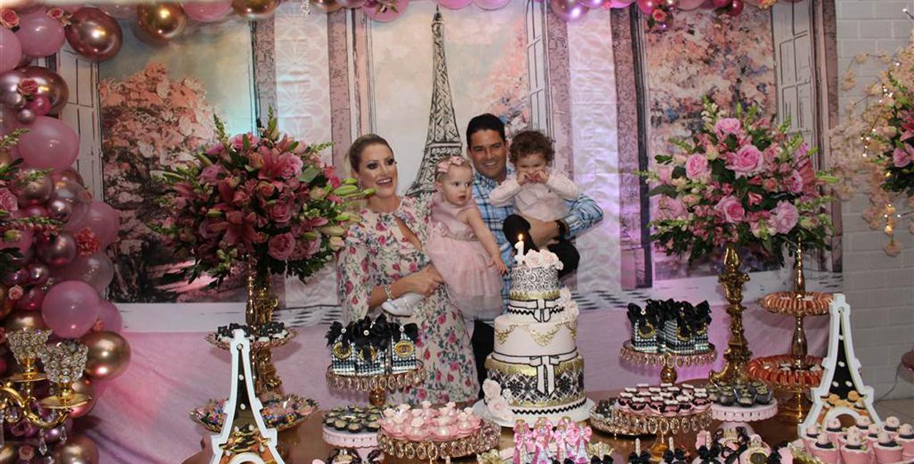Com o tema Mini Diva em Paris, a princesa Gabriela vive seu aniversário em alegria