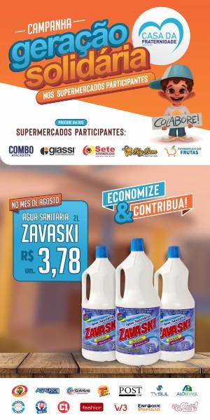 Banner Geração Solidaria Água Sanitária