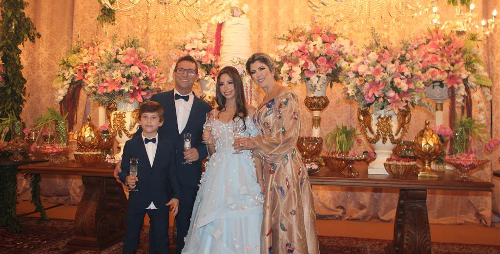 Michelle e Paulo Zacca comemoram aniversário da filha