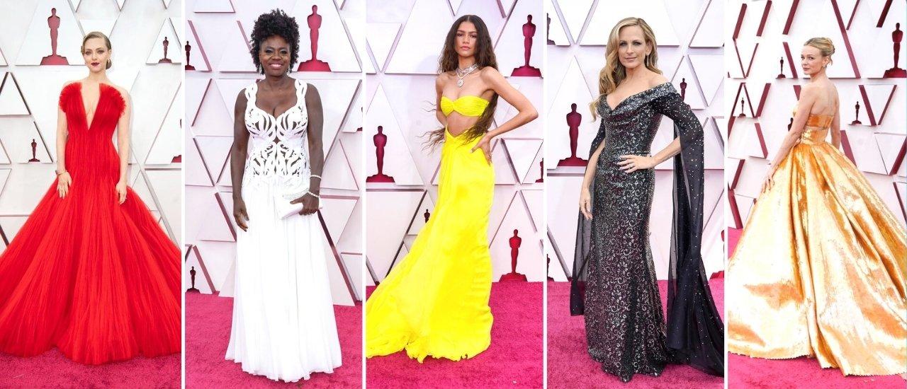 Glamour e elegância desfilados por atrizes e cantoras na maior cerimônia de premiação do mundo