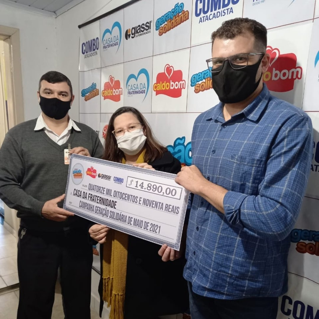 Caldo Bom e Giassi foram os produtos participantes da campanha no mês de maio