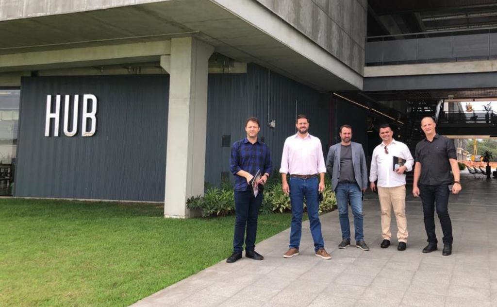 Na última semana, em parceria com a Prefeitura de Criciúma, visitaram o maior parque empresarial multissetorial da América do Sul, em Joinville