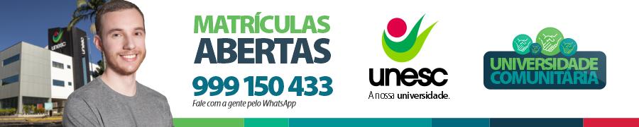 Banner UNESC Matriculas Abertas