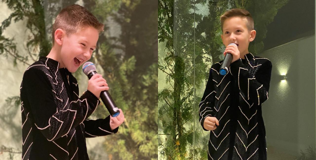 Com apenas 8 anos de idade, o pequeno esbanjou carisma e alegria em sua live