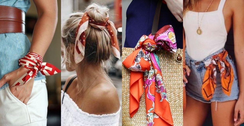 Trend das passarelas internacionais, os lenços dão um toque charmoso e vintage ao look