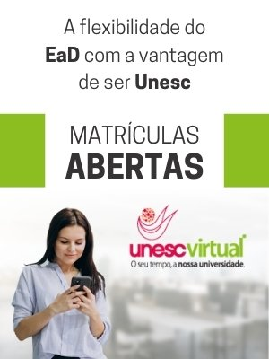 Unesc Virtual EaD abril 2021 - Matrículas Abertas