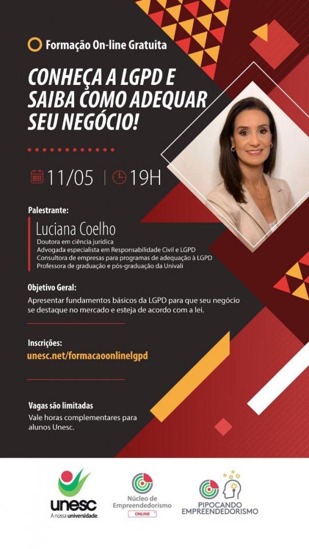O evento online acontece nesta terça-feira (11) com a palestrante Luciana Coelho