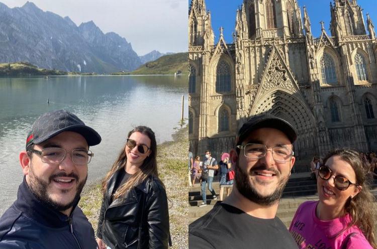 O casal escolheu o charmoso país europeu para celebrar o amor e o futuro juntos