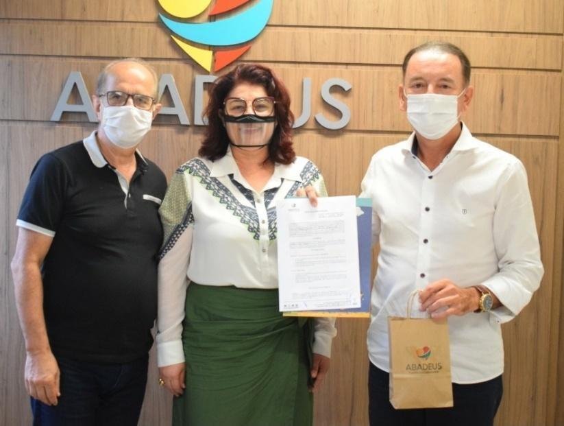 Presidente do Criciúma Esporte Clube, Sr. Anselmo Freitas, realizou um sonho á muito tempo esperado pela ABADEUS