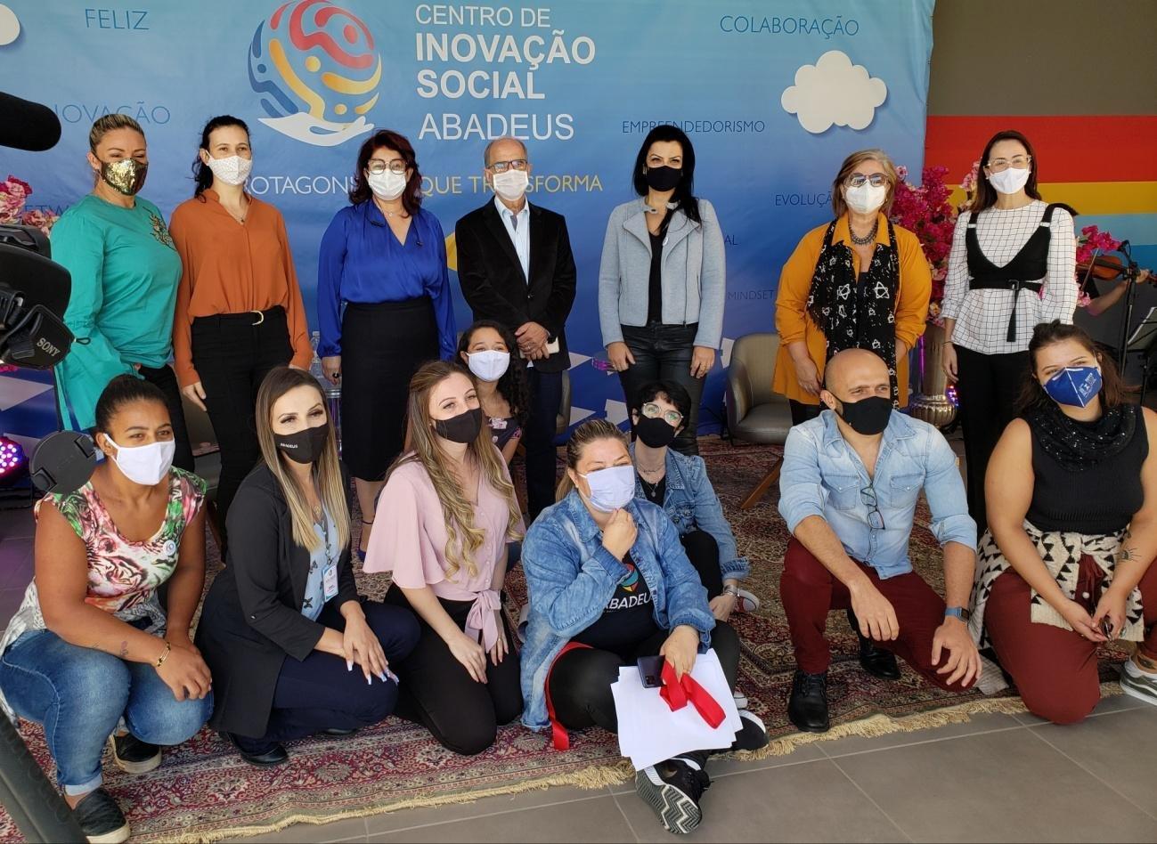 A ABADEUS esteve em comemoração dos 61 anos de história e inauguração do maior Centro de Inovação Social